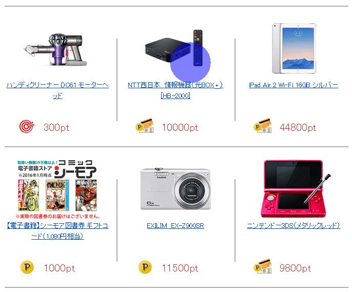 14.【NTT西日本】ポイント商品イメージ