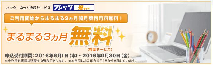 1.3か月無料キャンペーン(西日本)