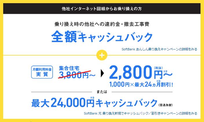 ソフトバンク光公式キャンペーンバナー