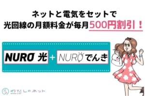 NURO光+NUROでんきセット割り