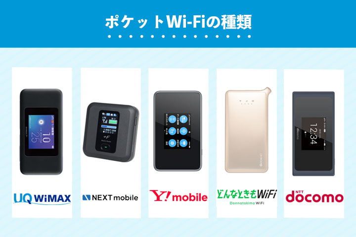 ポケットwifi5種類