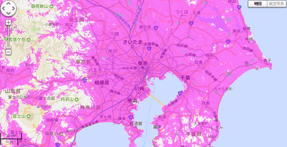 WiMAX area