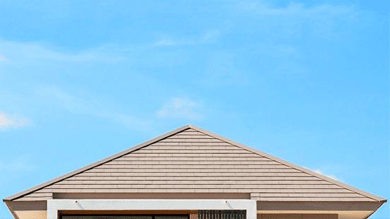 アンテナのない屋根の画像