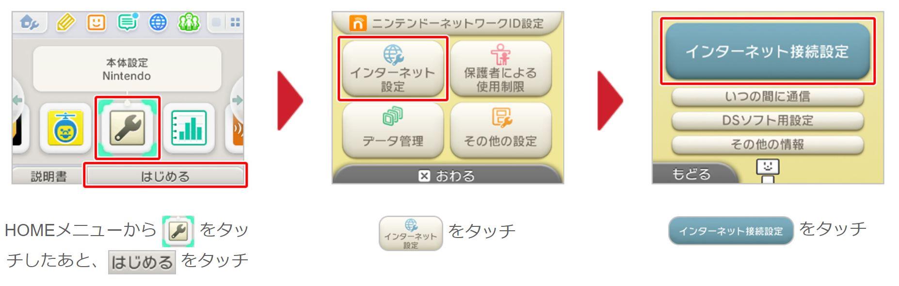 3DS_接続方法