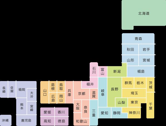 WiMAX2+のエリアマップ
