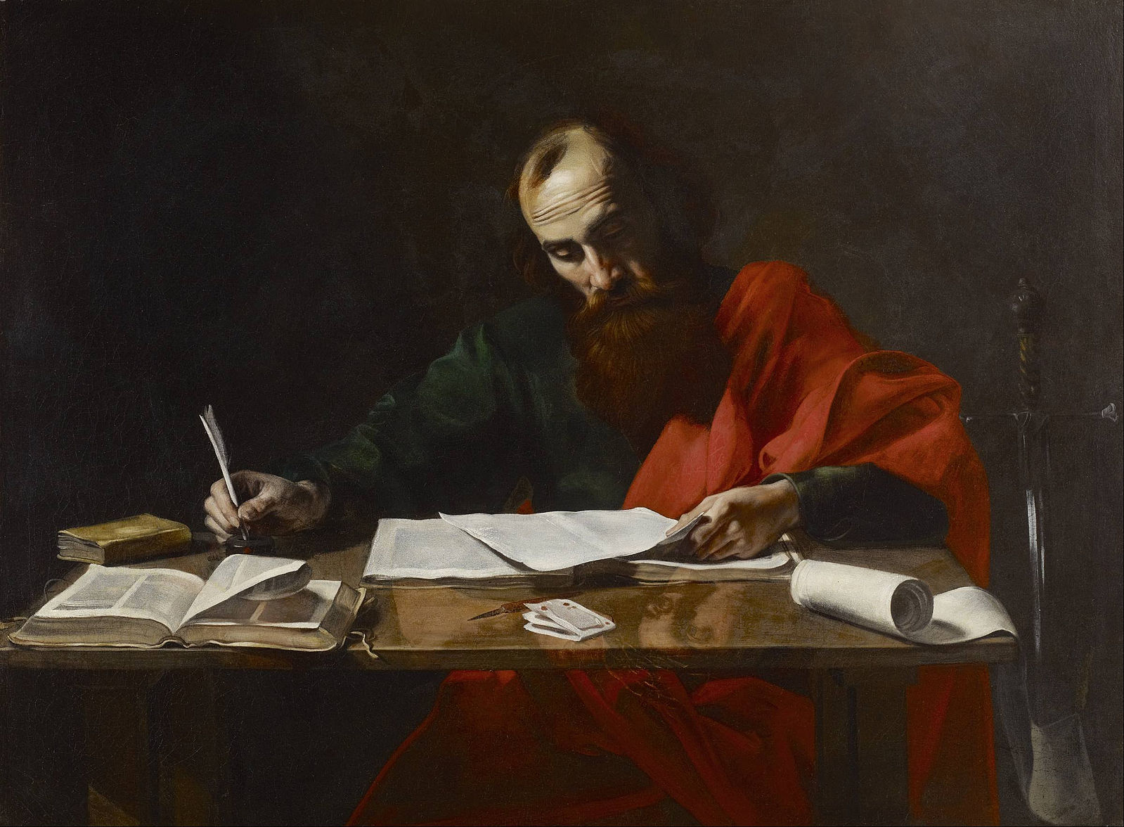 Saint Paul Writing letter
