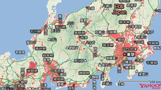 SoftBank Airのエリア