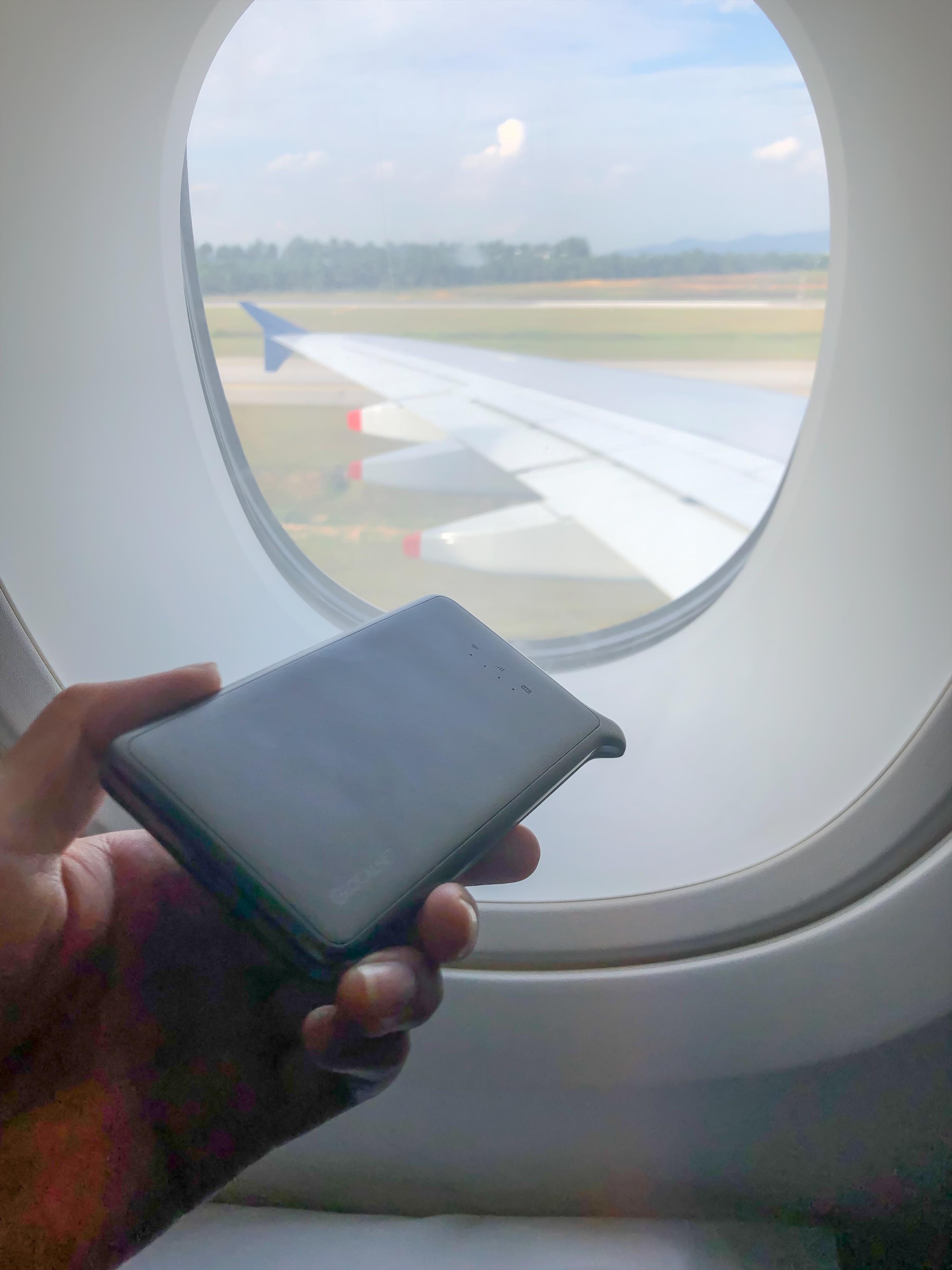 クアラルンプール国際空港でのどんなときもWiFi端末