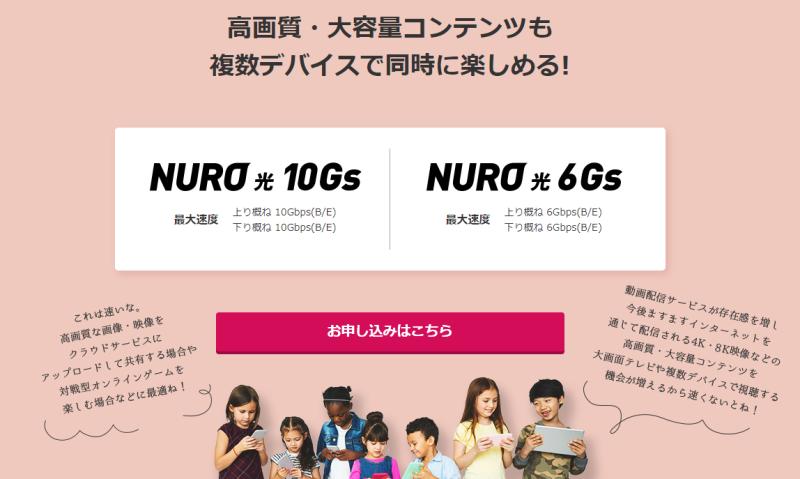 NURO光10Gs・6Gs エリア検索