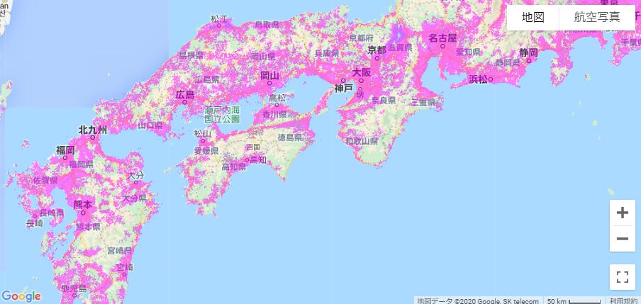 関西〜九州エリア